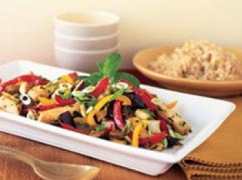 Weight Loss Recipe: Chicken Stir-Fry with Basil & Eggplant