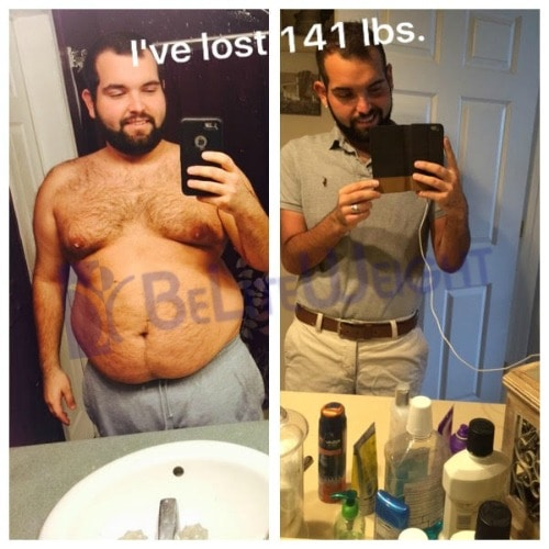 1 month weight loss males