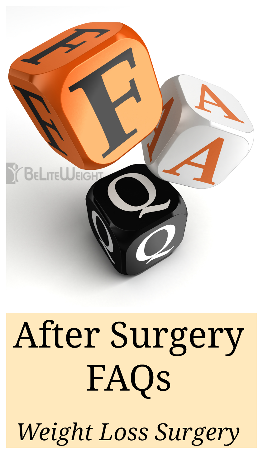After Weight Loss Surgery FAQs